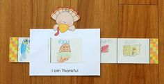 A cute story window idea for Thanksgiving. Templates and directions are provided!