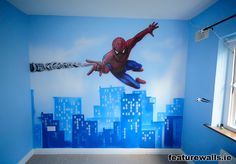 spiderman+mural+painting+in+kids+room+airbrushed+murals++by+featurewalls.ie+professionals+based+in+ireland.jpg (1600×1112)