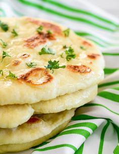 Homemade Naan Bread - soft, chewy, and simply delicious.