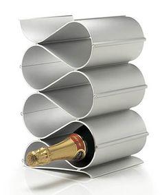 simple aluminium wine rack, but can't bend aluminium so can't be made