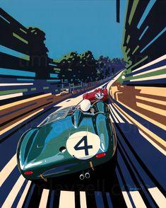 Com/Motor_art_tortoise. Art Deco Posters, Car Posters, Vintage Posters, Auto Illustration, Up Auto, Comic Anime, Car Drawings, Car Sketch, Art Graphique