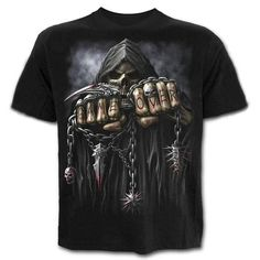 9cdc8b9734 Grim Reaper Heart Lover 3D Print Short Sleeve Summer Tops