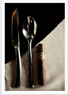 Place #cigars at guests' place settings as party favors...but make sure they don't use them as forks!
