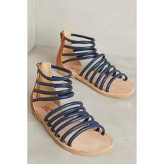 Fortress of Inca Lisa Gladiators ($180) ❤ liked on Polyvore featuring shoes, sandals, navy, navy shoes, navy gladiator sandals, navy blue sandals, navy blue shoes and gladiator shoes