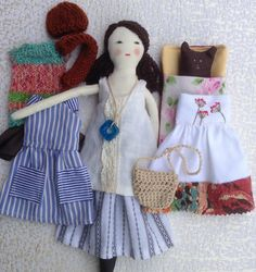Brigitte is a dress-up cloth doll made for active, quiet and imaginative play for children of all ages. Made in a pet free, smoke free environment, she