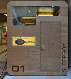 SLEEPBOX - Vending Machine  Only $1 per minute. How tired are you?