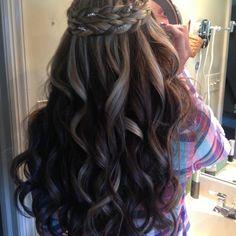 Simply stunning prom hair!