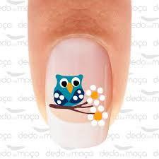 Resultado de imagem para adesivos de unhas com corujinhas