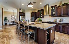 Excelsior - Plan 6004 New Home Plan in Quail Lake: Pinnacle Series by Lennar Kitchen Design, Kitchen Decor, Kitchen Ideas, Modern Grey Kitchen, Stained Kitchen Cabinets, Kitchen Confidential, Huge Kitchen, Modern Hallway, New House Plans