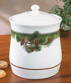 Pinecone Cookie Jar  www.wildwings.com