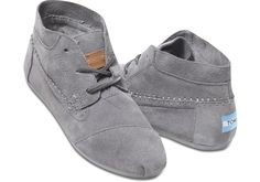 I so want these for this fall! Just enough to keep my feet warm without having to give up my comfy TOMS! (Grey Suede Women's Tribal Boots   TOMS) #TOMS GIVE BACK TO SCHOOL CONTEST