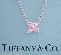 167cc8933 Tiffany & Co. PLATINUM Victoria Marquise Diamond Pendant Necklace 0.25CT  Marquise Diamond, Diamond