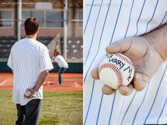 Baseball Themed Engagement Photo Session - Vanessa + Brian - Las Vegas Event and Wedding Photographer
