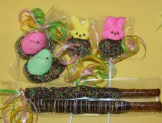 Chocolate dipped Easter treats by bitesizedelights on Etsy, $15.00