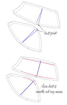 Fitting adjustments for bra cups   Bra-making Sew Along at Cloth Habit
