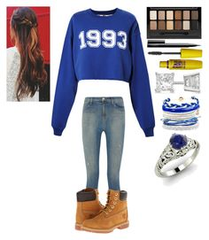 """""""•300 Followers•"""" by thisisvintage ❤ liked on Polyvore featuring MSGM, J Brand, Timberland, Maybelline, NARS Cosmetics, Allurez, Domo Beads and Diamondere"""