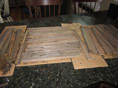 Make faux barn wood using vinegar and steel wool