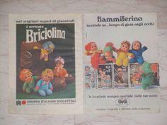 2 pubblicità paciocchini briciolina fiammiferini da topolino anni 80 vint