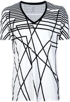 Geometric Print Tshirt - Neil Barrett