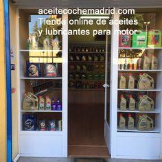 Localización tienda online:  zona de Ventas, Calle Ricardo Ortiz #20. 28017. Madrid. Venta de aceites para coches, motos y camiones. Envíos gratis. Liquor Cabinet, Madrid, Storage, Closet, Furniture, Home Decor, Trucks, Cars, Motors