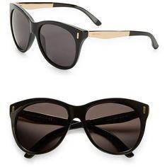 Jimmy Choo 56mm Cat Eye Sunglasses ($295) ❤ liked on Polyvore featuring accessories, eyewear, sunglasses, black, lens glasses, cat eye glasses, black lens sunglasses, jimmy choo eyewear and cateye sunglasses