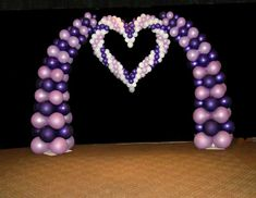 Balloon arch and heart
