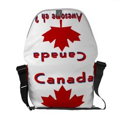 Canada maple leaf messenger nags commuter bags