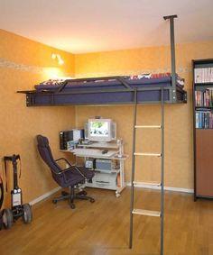 Resultado de imagen de cama-alta-dormitorio-juvenil