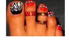My new toenails...  TOTALLY uninspired.  :(  Definitely not my best work...