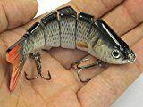 Al Fishing Lure 6 Segment Swimbait Crankbait Hard Bait Slow 18g 10cm with 6# Fishing Hook Fishing Tackle