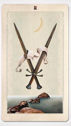Two of Swords Tarot Card Decks, Tarot Cards, Astro Tarot, Magic Symbols, Cartomancy, Major Arcana, Oracle Cards, Deck Of Cards, Occult