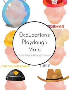 Occupations Playdough Mats