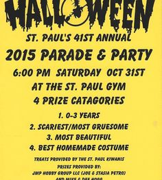41st Annual St. Paul Halloween Parade & Party – Crystal Clear has sponsored a haunted maze at 406 N. Main St., St. PAUL, INDIANA. This is free to all. Be sure to help spread the word. Don't forget that Kiwanis also helps Dee Hogg host a costume contest followed by a parade that night. That all starts at the St. Paul Gym. The St. Paul Volunteer Fire Department will also give away hot dogs and...