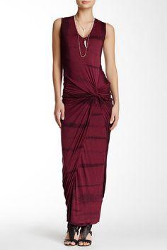 Young Fabulous & Broke Fleur Maxi Dress tie dye twist front dress