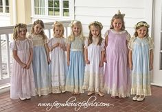 Jane Cely ~ Exactness in Expertise! – The Button Box Special Dresses, Cute Dresses, Little Girl Dresses, Girls Dresses, Farmhouse Fabric, Heirloom Sewing, Wedding With Kids, Smock Dress, Sewing Techniques