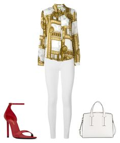 """""""Sin título #142"""" by miniervita on Polyvore featuring moda, Burberry, Versace, Yves Saint Laurent y French Connection"""