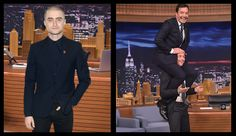 Jimmy Fallon soaks Daniel Radcliffe (who confessed he didn't have any spare underwear) and seemed to have a little too much fun riding James McAvoy's shoulders.