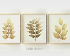 Simple Colorful Printable Art 30% off when you buy by EphericaArt Guest Room Decor, Boho Bedroom Decor, Home Wall Decor, 3 Piece Wall Art, Leaf Wall Art, Bedroom Prints, Wall Art Prints, Brown Wall Decor, Yellow Home Decor