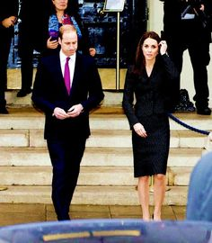 The Duke and Duchess of Cambridge at Kensington Palace.