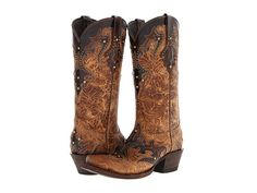 Lucchese M5725 Autumn Dry Leaf Calf and Granito Café Calf - Zappos.com Free Shipping BOTH Ways