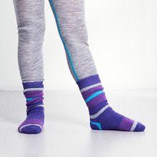 Lã merino inverno de espessura meias crianças listrado cor meias de lã térmica ao ar livre para 2-7 anos de idade(China (Mainland))