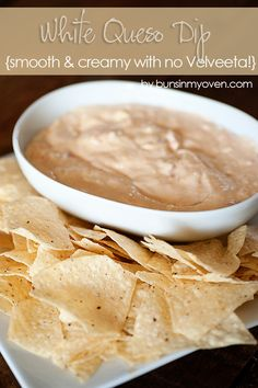 White Queso Dip (no Velveeta) 16 ounces cream cheese, softened cup sour cream 2 cups grated Jack cheese 2 cups grated Parmesan 1 can Rotel Diced Tomatoes with Green Chiles, drained teaspoon salt Add all of the ingredients to a large bowl and Yummy Appetizers, Appetizer Recipes, Snack Recipes, Cooking Recipes, Snacks, Appetizers Superbowl, Chili Relleno, Dip Recetas, My Burger