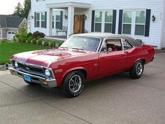 RED 1969 #Chevrolet Nova SS