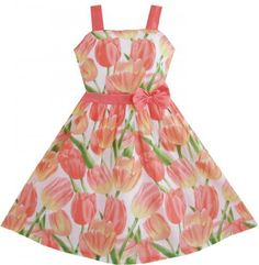 Girl Dress Tank Orange Tulip Flower Party Size 4-12 Years Sunny Fashion, http://www.amazon.co.uk/dp/B00C7IQCSW/ref=cm_sw_r_pi_dp_6x8zsb0TSTDVY