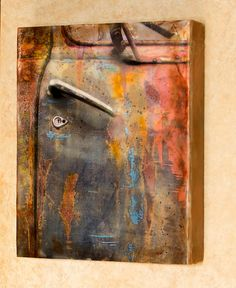 Encaustic photography Door of many colors by EncausticsbyGretchen