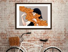 Discover «Orange flower», Limited Edition Fine Art Print by Paola Morpheus - From 35€ - Curioos
