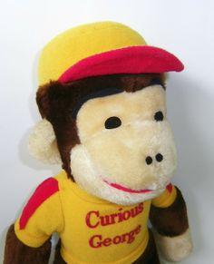 007efb194d Vintage Knickerbocker Curious George Monkey Doll by RetroClassics