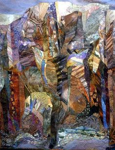 Canyon Music, by Laura Cater-Woods, in the permanent collection of the Rocky Mountain Quilt Museum.  It is breathtaking.