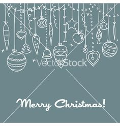 Hand drawn christmas background vector