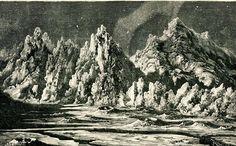 1901 Moonscape Antique Print Lunar Landscape  by CarambasVintage, $14.00